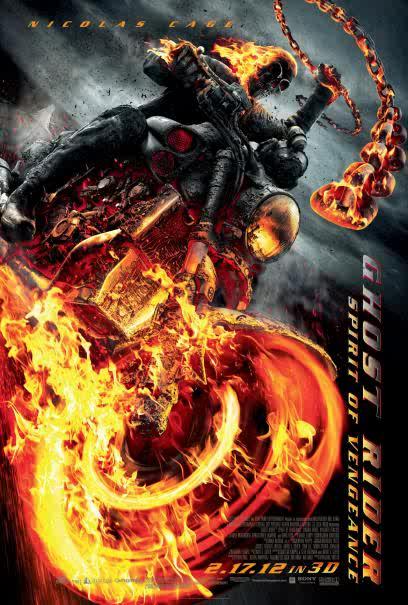 Ghost Rider Spirit of Vengeance $22 million
