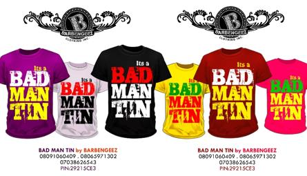 BAD MAN TIN The 2nd Series Off The Barbengeez Clothing Line